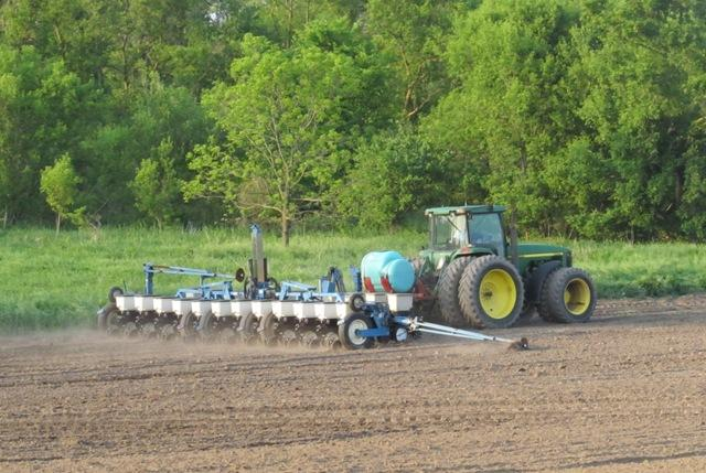 Many local corn growers have just started planting this year's crop.