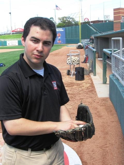 Lansing Lugnuts broadcaster Jesse Goldberg-Strassler will call Tuesday's game against the Dayton Dragons without ever watching a moment of it.  Photo: Kevin Lavery/WKAR