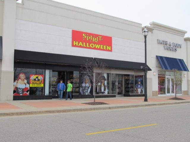 This Spirit Halloween store has been popping up seasonally at Eastwood Towne Center for six years. Photo: Kenita Nichols/WKAR.