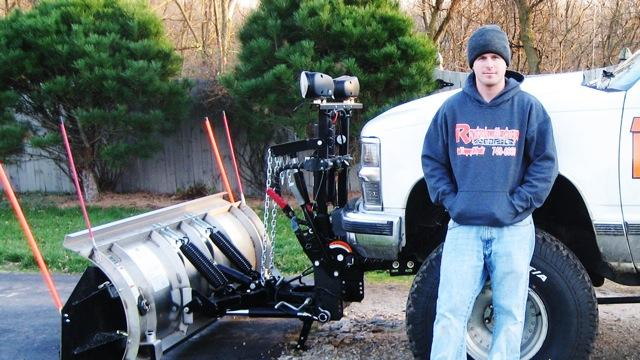 Tyler Royston started his snow plowing business at the age of 16. Photo: Scott Pohl/WKAR