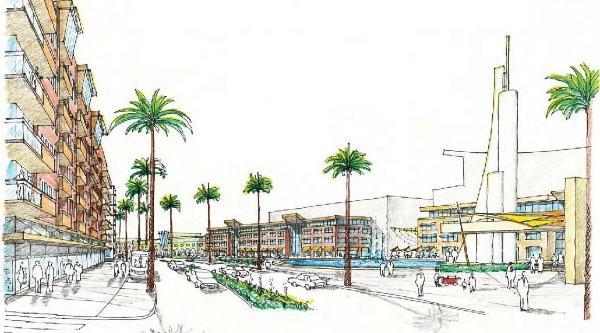 Architect's sketch courtesy of Prima Civitas