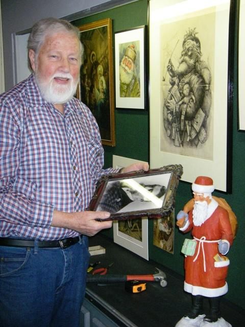 "MSU Museum curator Val Berryman at ""The Art of Christmas\"" exhibit at the Williamston Depot Museum. Photo: Courtesy Val Berryman"