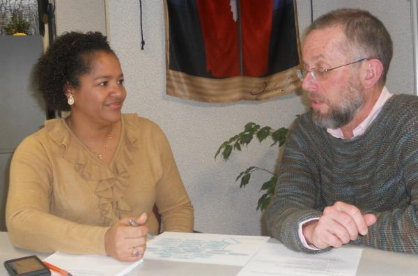Ingham County Health Officer Renee Canady and Assistant Deputy Health Officer Marcus Cheatham. Photo: Mark Bashore/WKAR