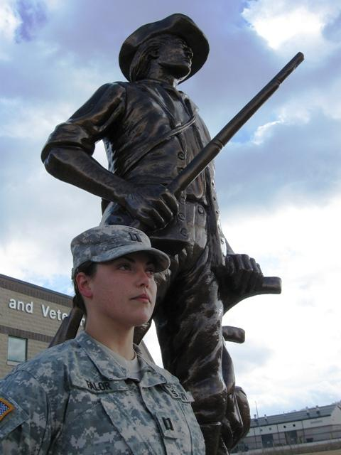 CPT Amanda Falor is a logistics specialist with the 246th Transportation Battalion of the Michigan Army National Guard.