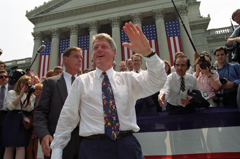 President Clinton Greeting Citizens of Charleston, West Virginia (August 9, 1993)