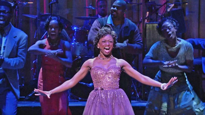 "Montego Glover plays Felicia Farrell, a young black singer whose career is on the rise, in ""Memphis,"" winner of the 2010 Tony Award for Best New Musical."