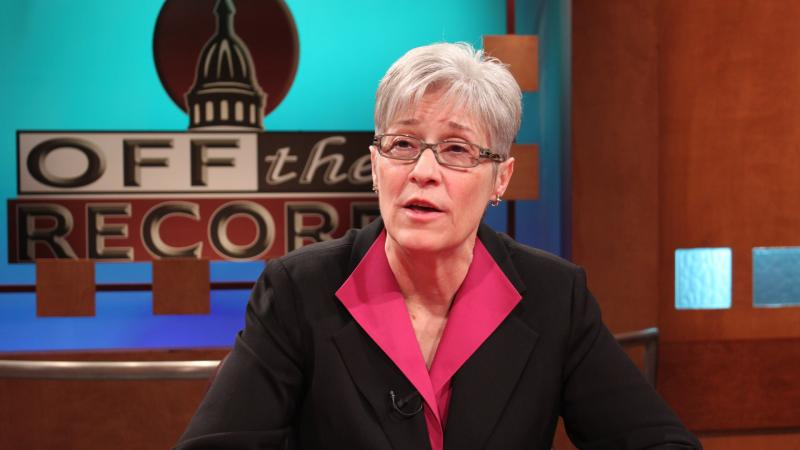 Michigan AFL-CIO President Karla Swift, appearing on Off the Record with Tim Skubick.