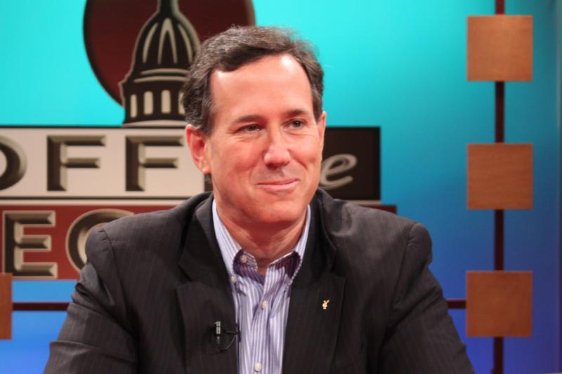 Republican presidential candidate Rick Santorum, appearing on Off the Record.
