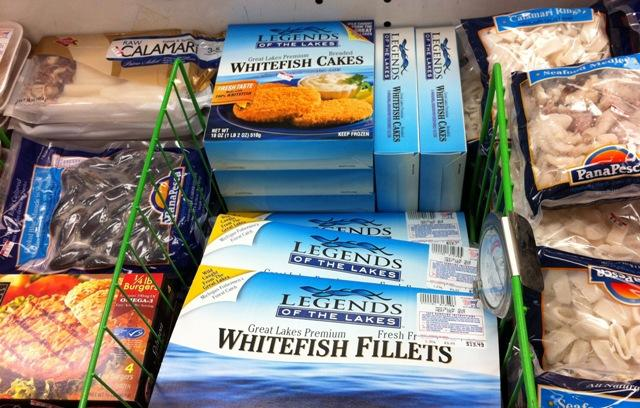 Legends of the Lakes frozen whitefish products can be found in local grocery stores like Goodrich's Shop Rite.