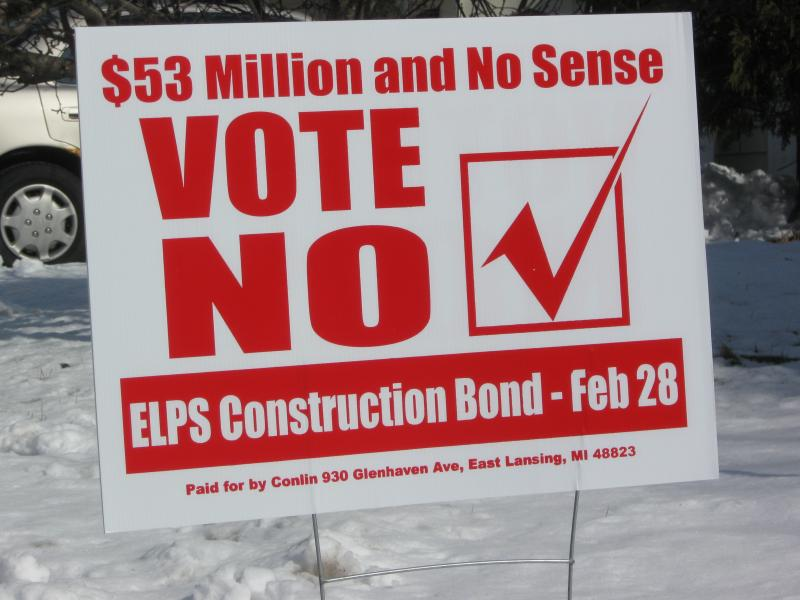 East Lansing voters rejected the school bond proposal.