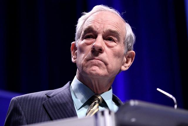 GOP presidential hopeful Ron Paul visited Michigan State University Monday on the day before the state primary.