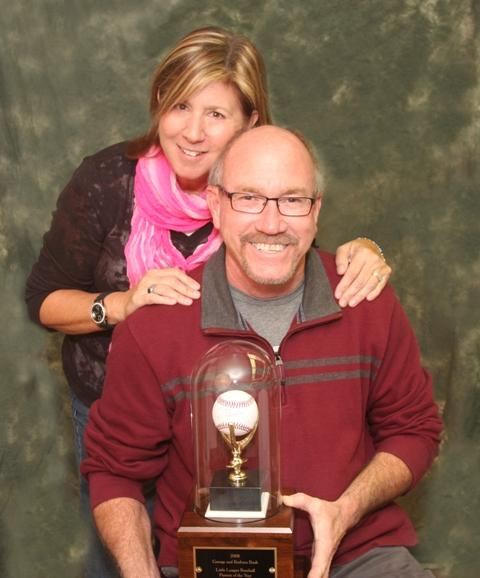 Kathy and Richard Verlander, with the George and Barbara Bush Little League Parents of the Year Award.