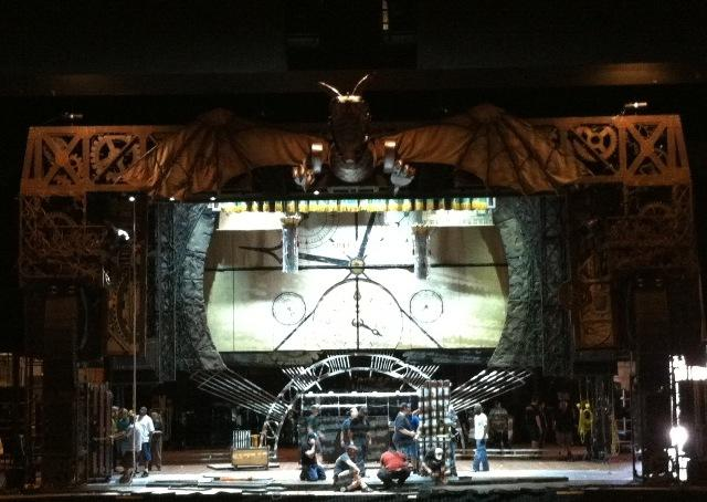 "The stage at MSU's Wharton Center is being transformed into Oz for ""Wicked""."