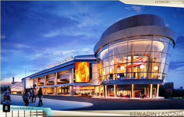 An artist's rendering of the Kewadin Lansing casino.  Planners are extending their self-imposed deadline for transferring land from the city of Lansing to the Sault Ste. Marie Tribe of Chippewa Indians, which will operate the casino.