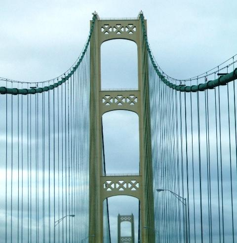 The Mackinac Bridge leading to Michigan's Upper Peninsula.