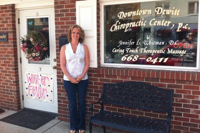 Downtown DeWitt Chiropractic owner Jennifer Whitman.