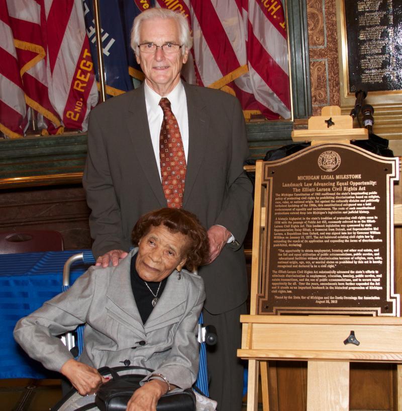 Ex-State Reps. Daisy Elliott (D-Detroit) and Mel Larsen (R-Oxford).