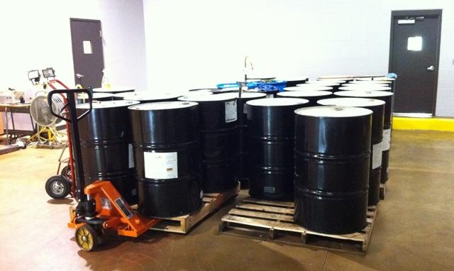Barrels of Gunzilla, ready for shipping.