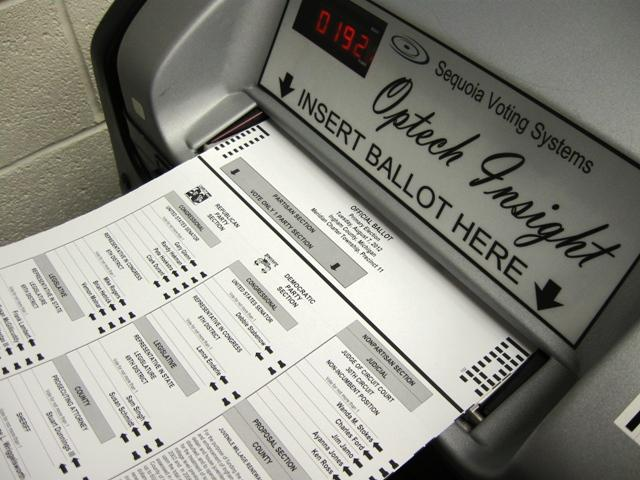 Ballot and Machine