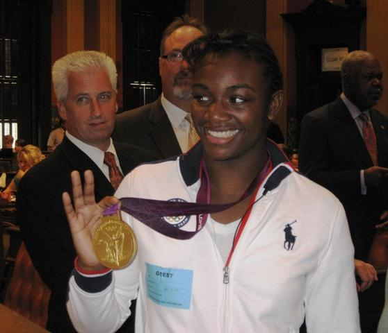 Flint native Claressa Shields: the first women's boxing gold medalist in Olympic history.