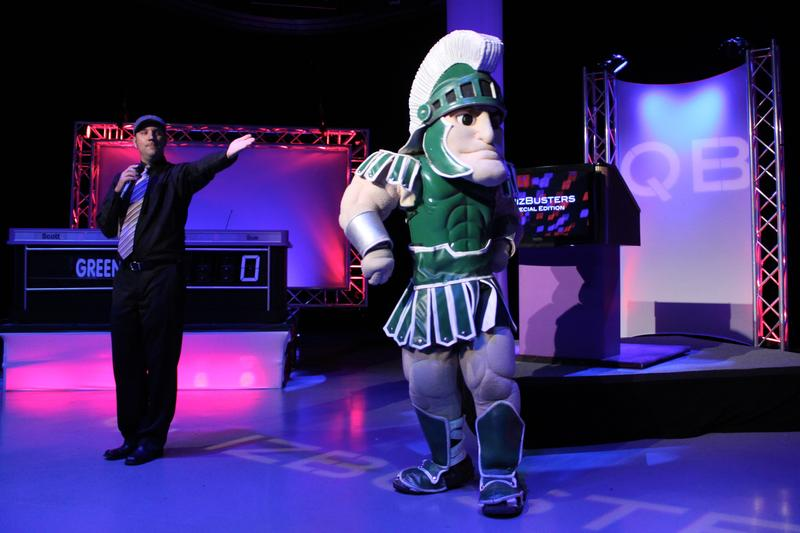 Jason with MSU Mascot Sparty