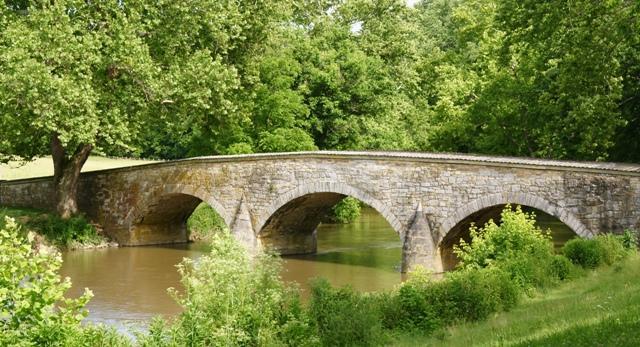 The Burnside Bridge at Antietam.