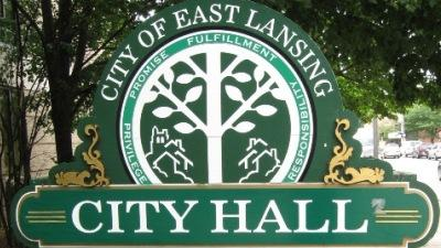 East Lansing city hall sign photo