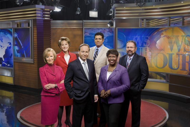 PBS NewsHour cast