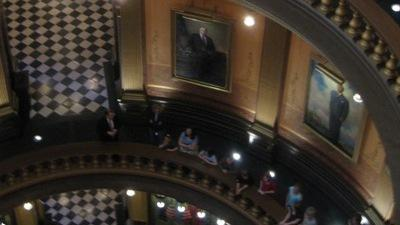 Photo of the Rotunda of Michigan's Capitol building.