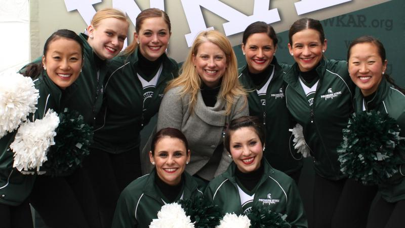 Susi Elkins with Pompon team