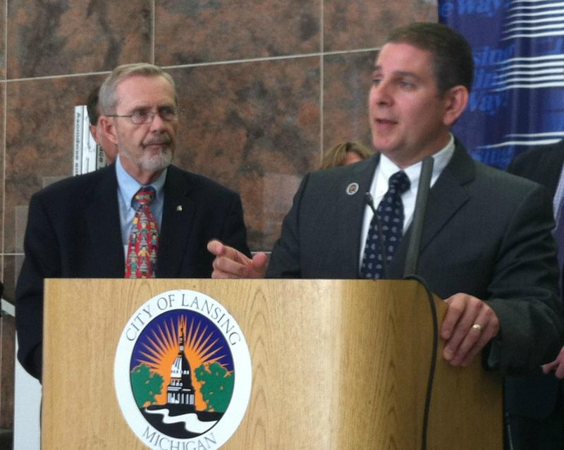 Picture of David Hollister and Virg Bernero