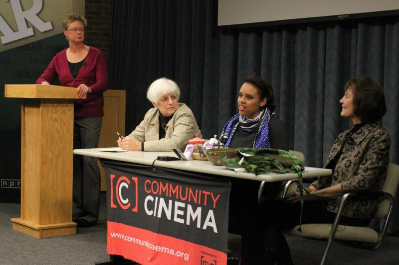 Panel at desk