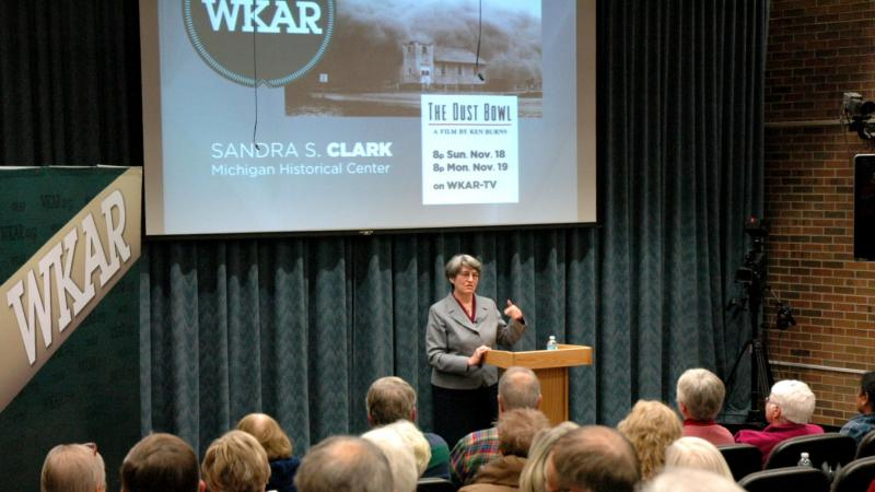 "Sandra Clark talks about ""The Dust Bowl"" at An Evening at WKAR"