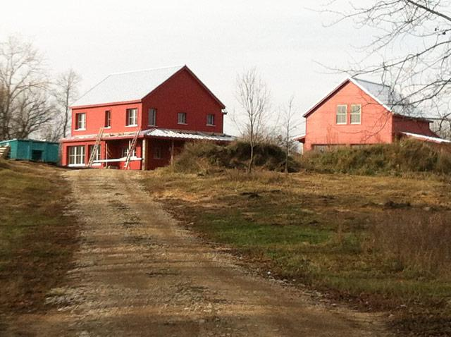 Approaching Kurt and Maura Jung's new passive house near Holly, Michigan.