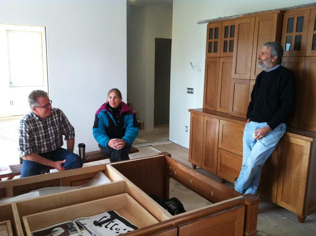 Party's in the kitchen:  Lansing builder Michael Klinger and the Jungs.