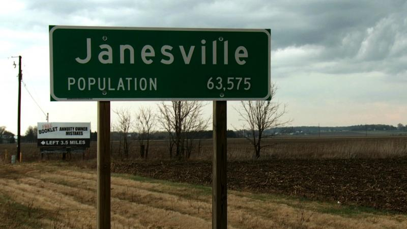 Janesville sign