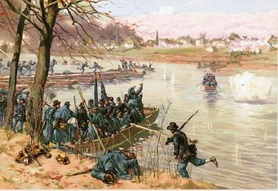 Rendering of the Michigan 7th crossing the Rappahannock