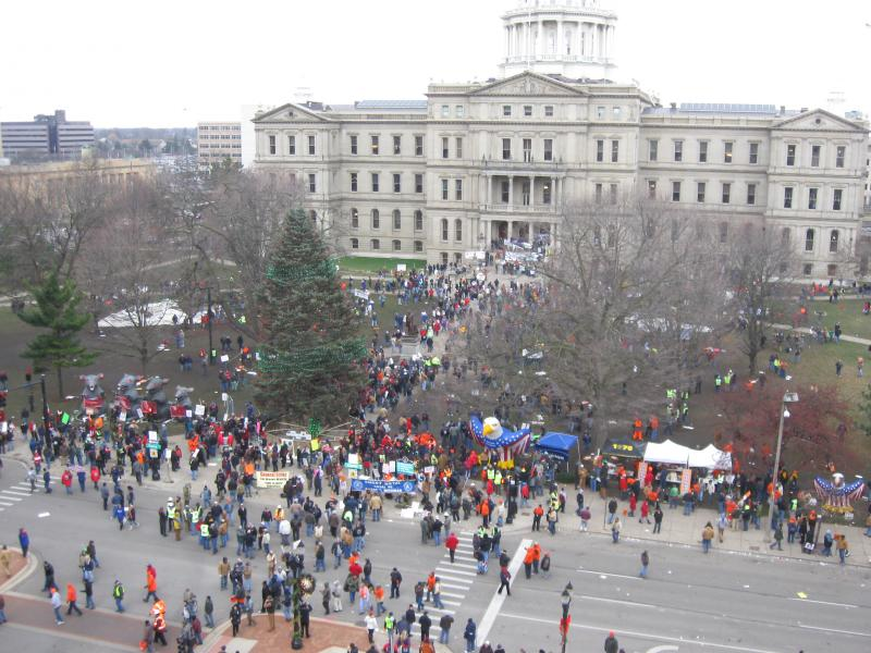 From the top of Lansing City Hall.