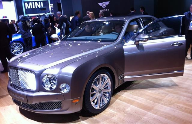 Bentley is showing off the Mulsanne.