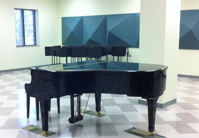 The MSU Community Music School's ensemble room