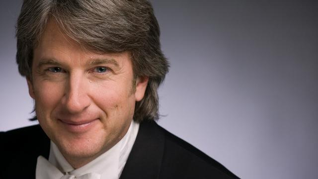 A photo of Timothy Muffitt of the Lansing Symphony Orchestra.