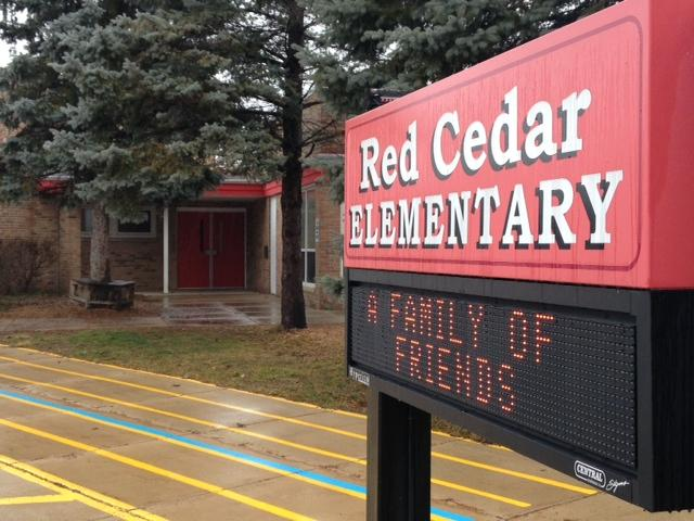 Red Cedar Elementary school sign