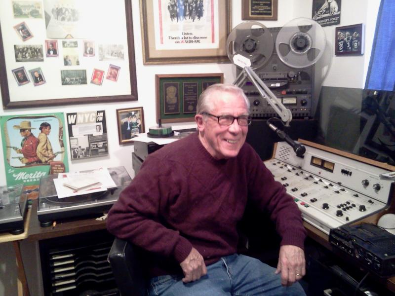Mike Whorf in his home recording studio