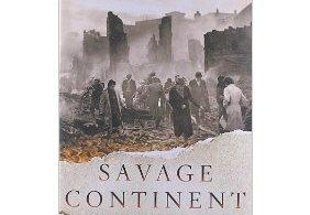 "A portion of the cover of ""Savage Continent: Europe in the Aftermath of WWII."