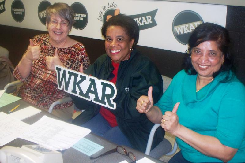 In the WKAR Volunteer Center during a recent TV fundraising campaign