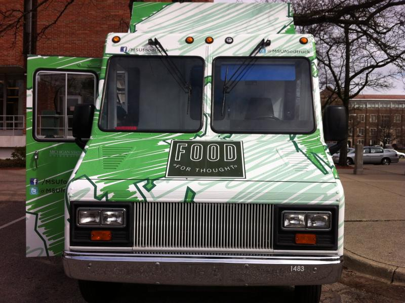 "The ""Food for Thought"" food truck debuted on MSU Campus on March 25."