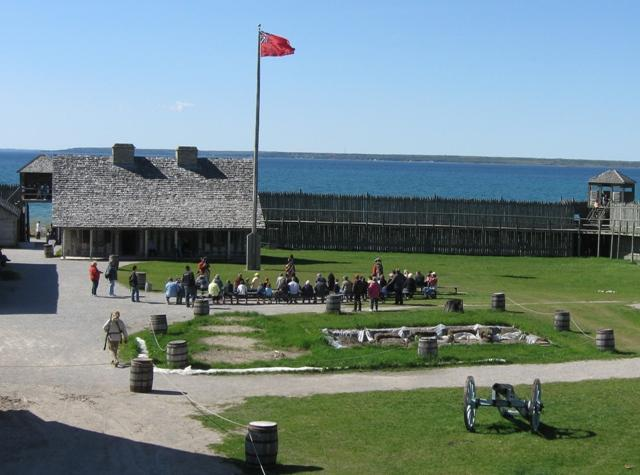 Colonial Fort Michilimackinac was founded by the French in 1715.  It came under British control in 1761.