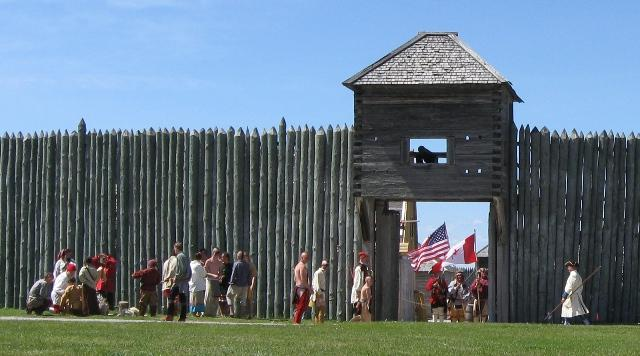 Every Memorial Day weekend, local residents re-enact the Ojibwe attack on Michilimackinac on June 2, 1763.
