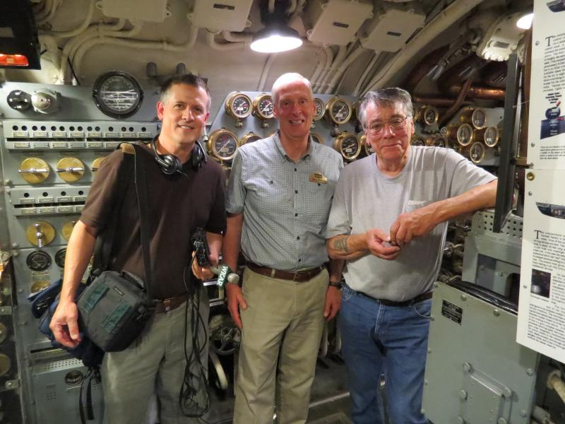 Peter, Garry and Silversides Chief Engineer Frank Lydell