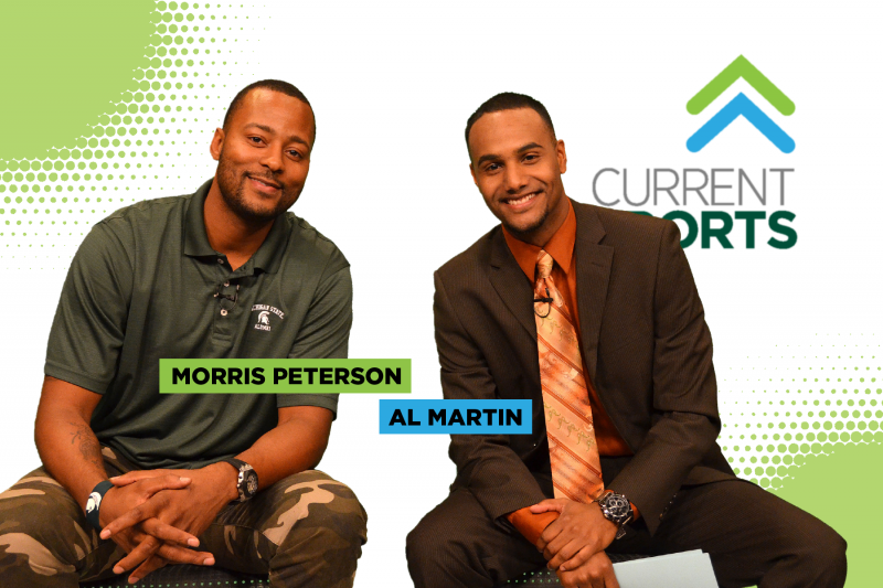 Morris Peterson with Current Sports host Al Martin